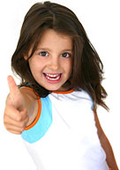 "Girl giving ""Thumbs Up"" for State College, PA Dentists"